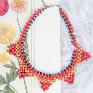 Jewelry - Antique Orange, Blue, Yellow Necklace
